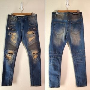 Distressed Skinny Jeans size 33